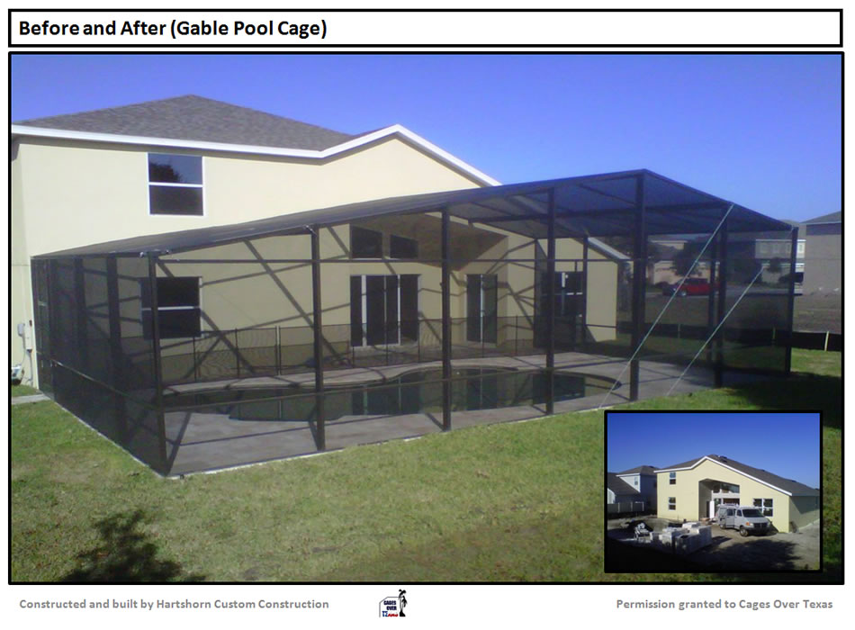 Pool enclosure houston tx builder of outdoor pool for Screened in porch lanai
