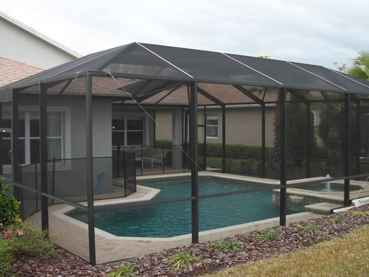 Houston texas pool enclosures builder of outdoor pool for Inground pool enclosure prices